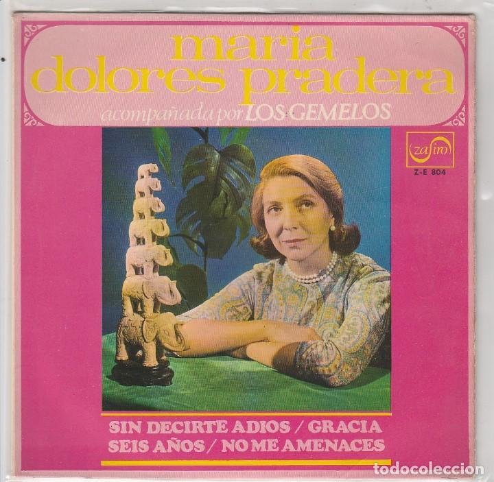 MARIA DOLORES PRADERA / SIN DECIRTE ADIOS + 3 (EP 1968) (Música - Discos de Vinilo - EPs - Solistas Españoles de los 50 y 60)