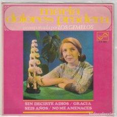 Disques de vinyle: MARIA DOLORES PRADERA / SIN DECIRTE ADIOS + 3 (EP 1968). Lote 87309380