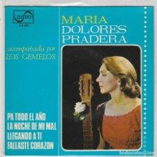 Disques de vinyle: MARIA DOLORES PRADERA / PA TODO EL AÑO + 3 EP 1965). Lote 87310524