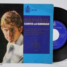 Discos de vinilo: DISCO EP DE VINILO - RAPHAEL CANTA LA NAVIDAD / TAMBORILERO - HISPAVOX, 1965. Lote 87320940