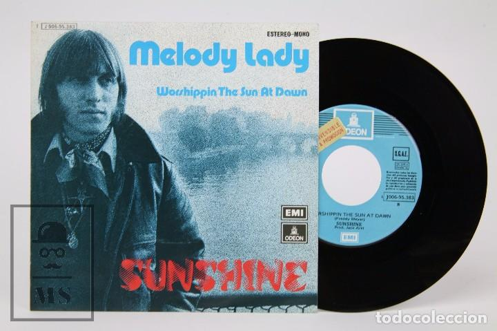 DISCO SINGLE DE VINILO - SUNSHINE. MELODY LADY - EMI / ODEON, 1974 (Música - Discos - Singles Vinilo - Pop - Rock - Extranjero de los 70)