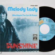 Discos de vinilo: DISCO SINGLE DE VINILO - SUNSHINE. MELODY LADY - EMI / ODEON, 1974. Lote 87337716