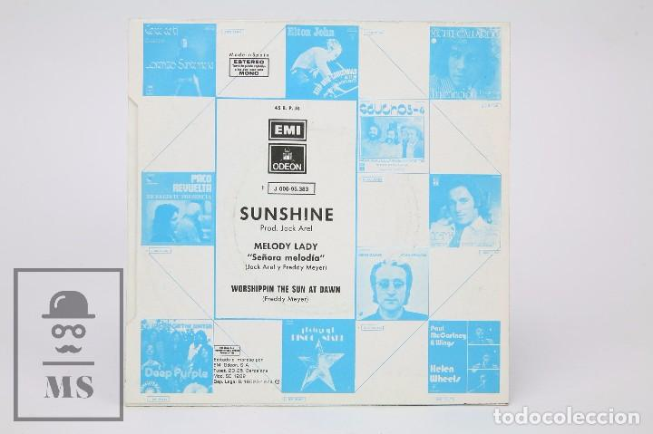 Discos de vinilo: Disco Single de Vinilo - Sunshine. Melody Lady - EMI / Odeon, 1974 - Foto 3 - 87337716