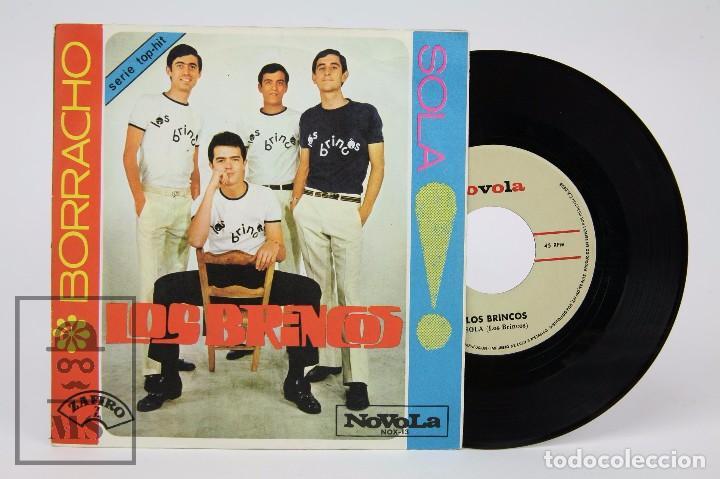 DISCO SINGLE DE VINILO - LOS BRINCOS. BORRACHO / SOLA - NOVOLA / ZAFIRO, 1965 (Música - Discos - Singles Vinilo - Grupos Españoles 50 y 60)