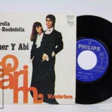 Discos de vinilo: DISCO SINGLE DE VINILO - ESTHER Y ABI OFARIM. CINDARELLA-ROCKEFELLA - FONOGRAM, 1968. Lote 87341928