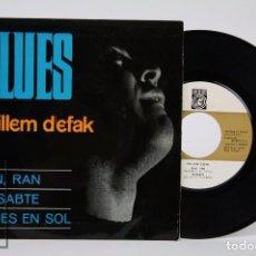 Discos de vinilo: DISCO EP DE VINILO - GUILLEM D'EFAK. BLUES / RAN, RAN - CONCÈNTRIC / VERGARA, 1965. Lote 87342276