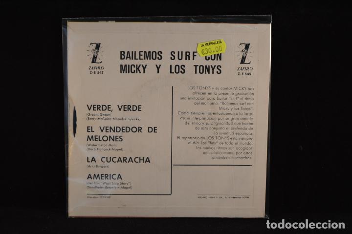 Discos de vinilo: MICKY Y LOS TONYS - VERDE VERDE+3 - EP - Foto 2 - 87363100