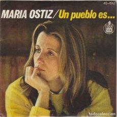 Dischi in vinile: MARIA OSTIZ / UN PUEBLO ES / TODO TIENE UN FIN (SINGLE 1977). Lote 190133158