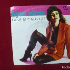 Discos de vinilo: KYM SIMS / TAKE MY ADVICE / WEA 1992.. Lote 87373000