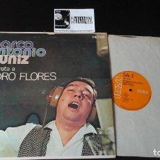 Discos de vinilo: ? MARCO ANTONIO MUÑIZ ?– INTERPRETA A PEDRO FLORES LP: RCA VICTOR ?– PRL-3013, EDICIÓN PUERTO RICO. Lote 87379944