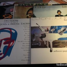 Discos de vinilo: ELTON JOHN (A SINGLE MAN + LIVE IN AUSTRALIA + TWO ROOMS + CANCIONES DE ORO) 5 LP ESPAÑA (VIN-Q). Lote 87387436