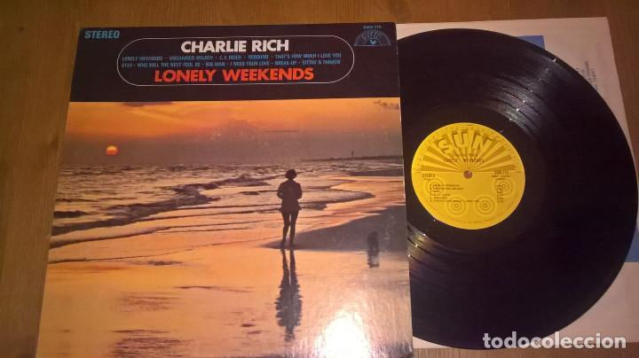 CHARLIE RICH – LONELY WEEKENDS 69 !! C.C. RIDER, COUNTRY ROCKABILLY, ORG USA SUN RECORDS, IMPECABLE (Música - Discos - LP Vinilo - Country y Folk)