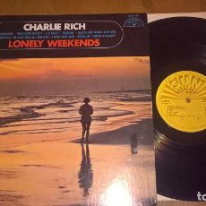 Discos de vinilo: CHARLIE RICH ?– LONELY WEEKENDS 69 !! C.C. RIDER, COUNTRY ROCKABILLY, ORG USA SUN RECORDS, IMPECABLE. Lote 87404668