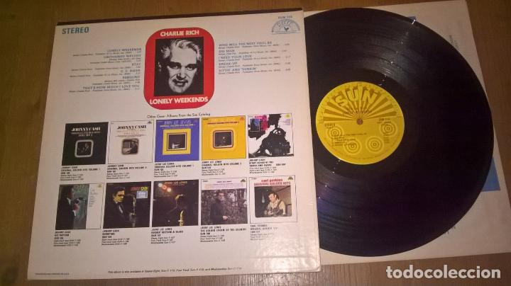 Discos de vinilo: Charlie Rich – lonely weekends 69 !! C.C. Rider, Country Rockabilly, org usa sun records, impecable - Foto 2 - 87404668