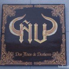 Discos de vinilo: ÑU - DOS AÑOS DE DESTIERRO- LP 1990 + INSERT. Lote 87410944