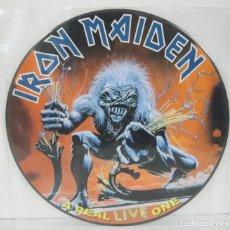 Discos de vinilo: IRON MAIDEN - A REAL LIVE ONE - LP - EMI 2001 EDICION LIMITADA PICTURE DISC. Lote 87440404