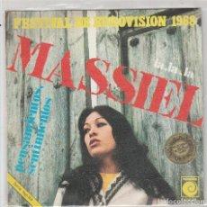 Dischi in vinile: MASSIEL / LA LA LA / PENSAMIENTOS SENTIMIENTOS (EUROVISION) SINGLE 1968. Lote 87448080