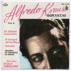 Discos de vinilo: DISCO EP 45 RPM - ALFREDO KRAUS - ROMANZAS (HISPAVOX HH 16-84). Lote 87452664