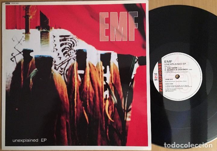 EMF – UNEXPLAINED EP - EP 12 PULGADAS VINYL 1992 UK - INDIE ROCK (Música - Discos de Vinilo - EPs - Pop - Rock Internacional de los 90 a la actualidad)