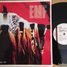 Discos de vinilo: EMF – UNEXPLAINED EP - EP 12 PULGADAS VINYL 1992 UK - INDIE ROCK. Lote 87470144