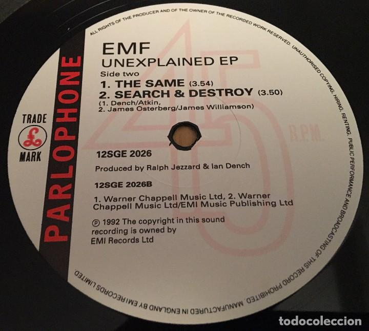 Discos de vinilo: EMF – Unexplained EP - EP 12 Pulgadas VINYL 1992 UK - INDIE Rock - Foto 3 - 87470144