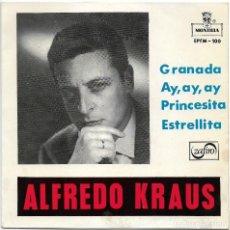 Discos de vinilo: ALFREDO KRAUS - GRANADA, AY AY AY, ESTRELLITA, PRINCESITA - SPAIN EP MONTILLA 1959. Lote 87497072