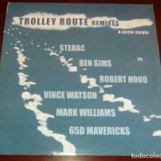 Discos de vinilo: TROLLEY ROUTE REMIXES - DOBLE MAXI SINGLE.12 - IMPORTACION. Lote 87516924