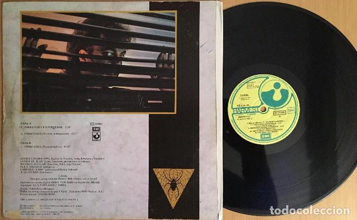 Discos de vinilo: Casal – Poker Para Un Perdedor -MAXI 45 RPM VINYL 1983 SPAIN - Harvest - Foto 2 - 87517324