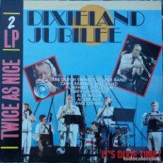Discos de vinilo: DIXIELAND JUBILEE. IT´S DIXIE TIME !.ACKER BILK, ALEX WELSH... DOBLE LP HOLLANDA. Lote 87519212