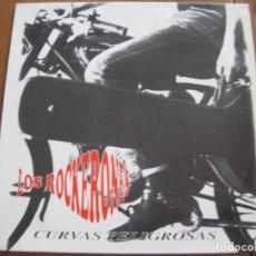 Discos de vinilo: ROCKERONES - CURVAS PELIGROSAS - LP CAMBAYÁ 1992. Lote 87526940