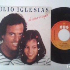 Discos de vinilo: JULIO IGLESIAS -DE NIÑA A MUJER / Y PENSAR. Lote 87528292