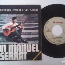 Dischi in vinile: JOAN MANUEL SERRAT - EL TIRITITERO / POEMA DE AMOR (1968). Lote 87532064