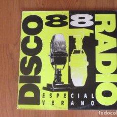 Dischi in vinile: DISCO RADIO 88 - VARIOS ARTISTAS - CBS - SPAIN - ESPECIAL VERANO - T - . Lote 87538900