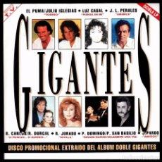 Discos de vinilo: GIGANTES - SPAIN 2X SINGLE EPIC 1992 - JULIO IGLESIAS / PERALES / ROCIO JURADO - PROMO. Lote 87543112