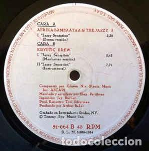 AFRIKA BAMBAATAA & THE JAZZY 5 / THE KRYPTIC KREW FEATURING TINA B - JAZZY SENSATION (MAXI) (Música - Discos de Vinilo - Maxi Singles - Rap / Hip Hop)