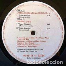 Discos de vinilo: AFRIKA BAMBAATAA & THE JAZZY 5 / THE KRYPTIC KREW FEATURING TINA B - JAZZY SENSATION (MAXI) . Lote 87562488
