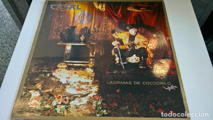 MUSICA LP TINO CASAL LAGRIMAS DE COCODRILO CON ENCARTES 1ª ED DE 1987 PJ (Música - Discos - LP Vinilo - Grupos Españoles de los 90 a la actualidad)