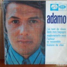 Discos de vinilo: ** ADAMO - J'AI TANT DE RÊVES DANS MES BAGAGES + 3 - EP AÑO 1968 - PROMO. Lote 87598836