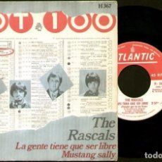 Discos de vinilo: THE RASCALS - PEOPLE GOT TO BE FREE / MUSTANG SALLY - SPAIN SINGLE ATLANTIC 1968. Lote 87614544