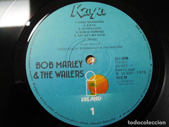 Discos de vinilo: Bob Marley & the Wailers. LP. Kaya. Edición española. Island 1978 - Foto 4 - 87633492
