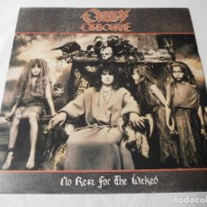 Discos de vinilo: OZZY OSBOURNE. LP. NO REST FOR THE WICKED. EDICIÓN ESPAÑOLA PROMOCIONAL. EPIC 1988. Lote 87636756