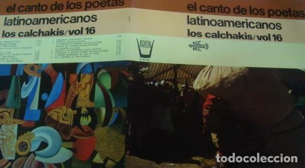 Discos de vinilo: LOS CALCHAKIS - EL CANTO DE LOS POETAS LATINOAMERICANOS - Foto 2 - 87646780