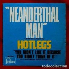 Discos de vinilo: HOTLEGS (SINGLE 1970) (COMO NUEVO) NEANDERTHAL MAN - HOMBRE DE NEANDERTHAL - 10 CC. Lote 87653236