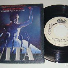 Discos de vinilo: PALOMA SAN BASILIO - EVITA - PROMO - NO LLORES POR MI ARGENTINA / YA ESTAN A TUS PIES - PATXI ANDION. Lote 87653840