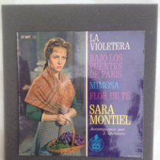 Discos de vinilo: SARA MONTIEL - LA VIOLETERA - HISPAVOX /FRANCE/ VG+. Lote 87666100