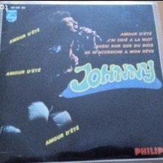 Discos de vinilo: JOHNNY HALLYDAY 7' EP AMOUR D'ÉTÉ +3, SPANISH EDIT. Lote 87672972