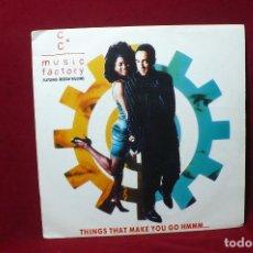 Discos de vinilo: C+C. MUSIC FACTORY / THINGS THAT MAKE YOU GO HMMM, 7 PULGADAS REMIX / CBS PROMOCIONAL / 1991. . Lote 87680728
