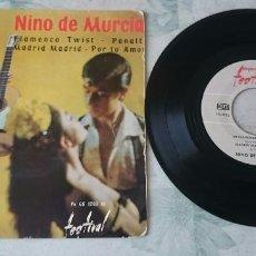 Discos de vinilo: NIÑO DE MURCIA: FLAMENCO TWIST + 3 (FESTIVAL 1963). Lote 87692912