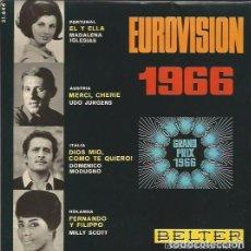 Discos de vinilo: EUROVISION 1966 BELTER 1966 , EP:MADALENA IGLESIAS , UDO JURGENS, DOMENICO MODUGNO , MILLY SCOTT. Lote 87751572
