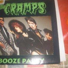Discos de vinilo: THE CRAMPS BOOZE FIESTA/2-LP, 1989, BOOTLEG, LIVE, ORANGE ULTRA RARE. Lote 87766892